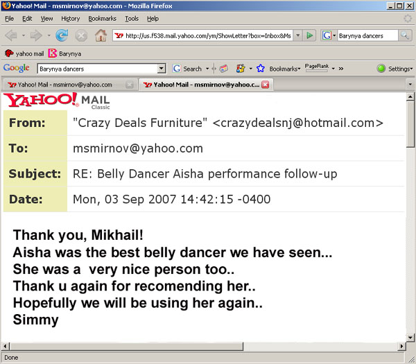 Belly Dancer Aeesha recommendation 01