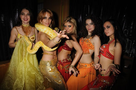Snake and belly dancer Anna's show